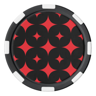 Rot des Stern-7 Poker Chip Set