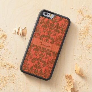 Rot des Vintagen, blassen Veilchens u. Sand Bumper iPhone 6 Hülle Kirsche
