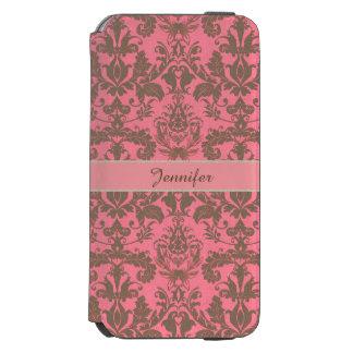 Rot des Vintagen, blassen Veilchens u. Sand Incipio Watson™ iPhone 6 Geldbörsen Hülle