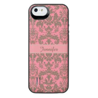Rot des Vintagen, blassen Veilchens u. Sand iPhone SE/5/5s Batterie Hülle