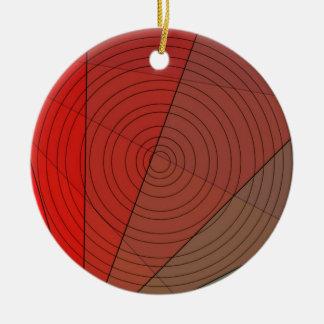Rot-Dreieck-Kreis-Entwurf Keramik Ornament