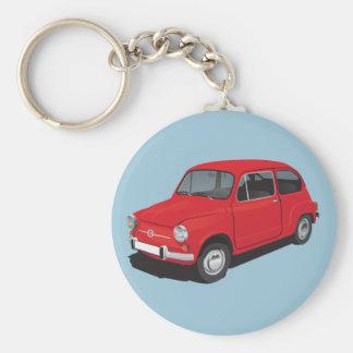 Rot Fiats 600D Schlüsselanhänger