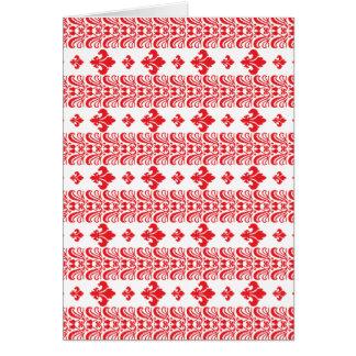 Rot Fleur Streifen-1 Grußkarte