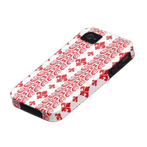 Rot Fleur Streifen-1 Vibe iPhone 4 Cover