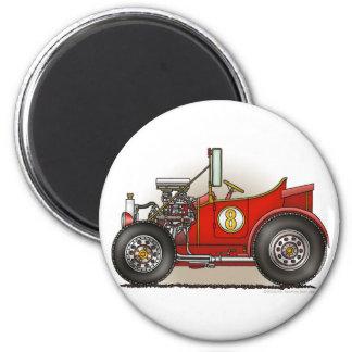 Rot - frisiertes Auto Auto-Magneten Runder Magnet 5,1 Cm