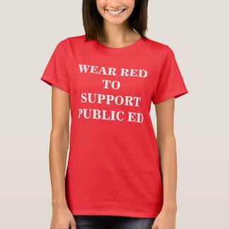 ROT für ÖFFENTLICHKEIT ED T-Shirt