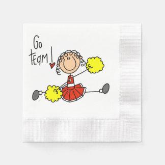 Rot gehen Team-Cheerleader Papierserviette