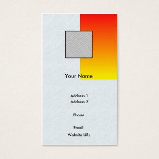 Rot/Gelb-Geschäft Visitenkarte