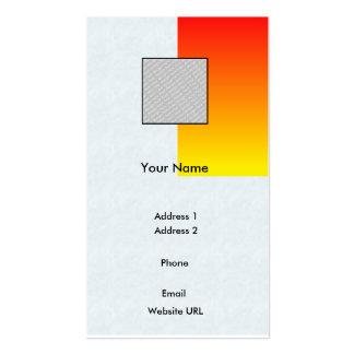Rot/Gelb-Geschäft Visitenkarten