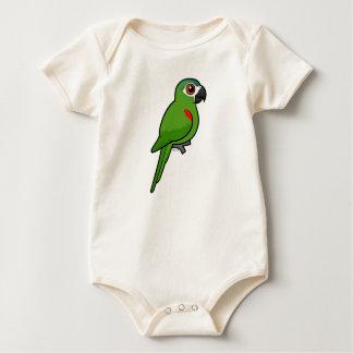 Rot-geschulterter Macaw Baby Strampler