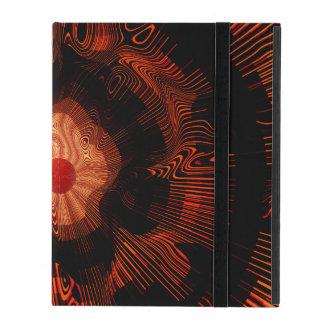 Rot-gewundenes psychedelisches hülle fürs iPad
