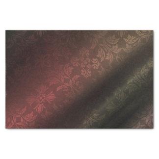 Rot, Gold, grünes Foral 10lb Seidenpapier