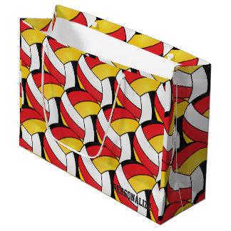Rot-, Gold-, weiße und SchwarzeVolleybälle 2 Große Geschenktüte