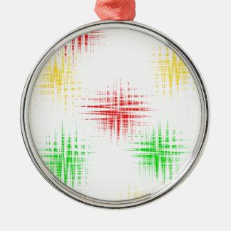 Rot, grün und gelb silbernes ornament