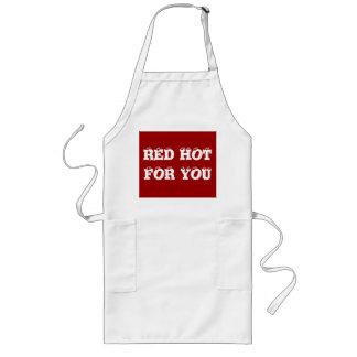 """""""Rot - heiß für Sie"""" lustige Sprüche auf Küchen-Sc Schürzen"""