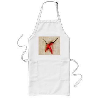 rot - heiße Chili-Paprikaschoten-Schürze
