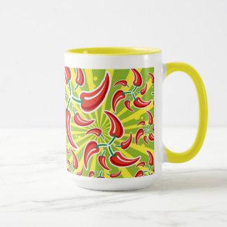 Rot - heiße Chili-Paprikaschoten-Tasse Tasse