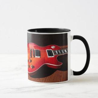 Rot - heiße elektrische Gitarren-Tasse Tasse