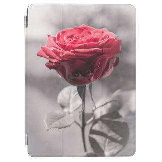 Rot ist das Rosen-Single-Rosen-weiße nebelhafte iPad Air Hülle