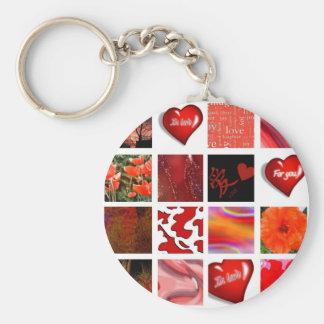 Rot ist Liebe, Fäule ist die Liebe, Standard Runder Schlüsselanhänger