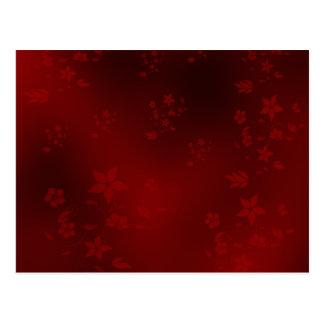 Rot, kleine empfindliche asiatische Blumen auf Postkarte