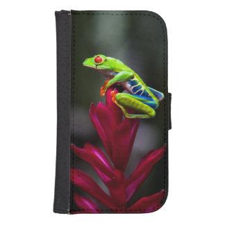 Rot-mit Augen Baum-Frosch Galaxy S4 Portmonnaie
