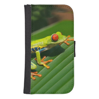 Rot-mit Augen Frosch Baum des tropischen Galaxy S4 Geldbeutel Hülle