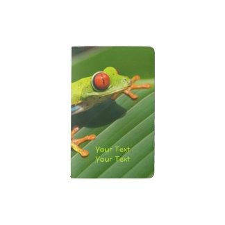 Rot-mit Augen Frosch Baum des tropischen Moleskine Taschennotizbuch