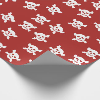 Rot mit dem weißen Totenkopf mit gekreuzter Geschenkpapier