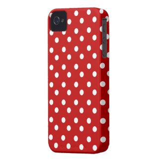Rot mit weißem Polka-Punkt-Case-Mate-Kasten iPhone 4 Case-Mate Hüllen