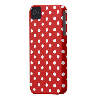 Rot mit weißem Polka-Punkt-Case-Mate-Kasten iPhone 4 Hülle
