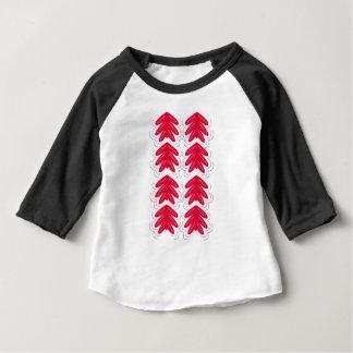 Rot mit weißen Verzierungen Baby T-shirt