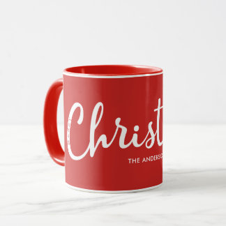 ROT   moderne frohe Weihnachten Tasse