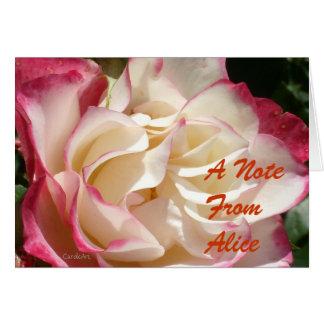 Rot-Parfait-Rose der Kirsche2 Karte