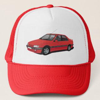 Rot Peugeots 405 Truckerkappe