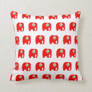 Rot, pickelig, bunt, Elefantkissen Kissen