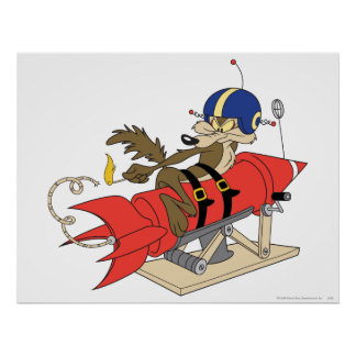 Rot Rocket Wile E. Coyote Launching Poster