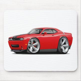 Rot-Schwarzes Auto des Herausforderer-SRT8 Mousepad