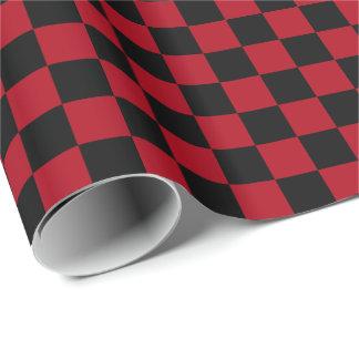 Rot/Schwarzes kariert Geschenkpapier