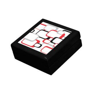Rot-, Schwarzes und GrauesRetro Quadrat Erinnerungskiste