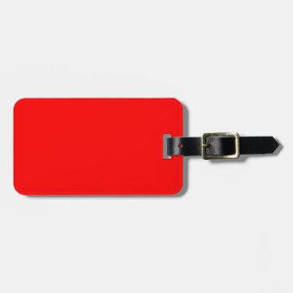 Rot-Side-orange Gewohnheit gefärbt Gepäckanhänger