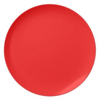 Rot-Side-orange Gewohnheit gefärbt Melaminteller