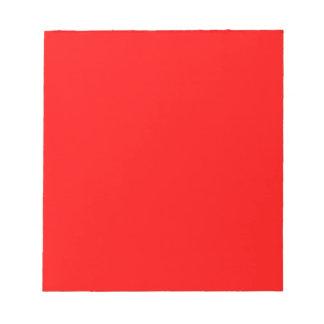 Rot-Side-orange Gewohnheit gefärbt Notizblock