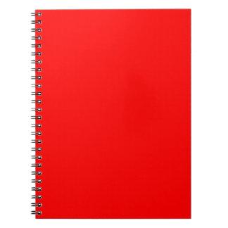 Rot-Side-orange Gewohnheit gefärbt Spiral Notizblock