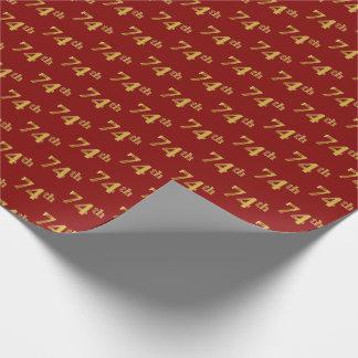 Rot, (Siebzig-Viertes) Ereignis des Imitat-Gold74. Geschenkpapier