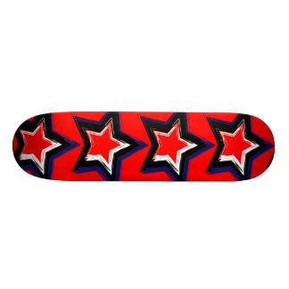 Rot-Sterne 18,4 Cm Mini Skateboard Deck