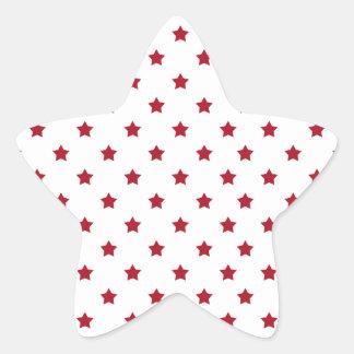 Rot-Sterne auf Weiß Stern-Aufkleber