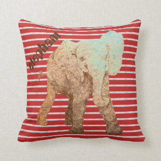 Rot Stripes Baby-Elefanten Kissen