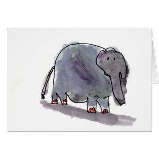 Rot Toed Elefant • Konrad Mazur, Alter 6 Karte