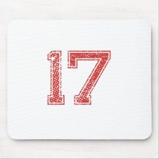 Rot trägt Jerzee Nr. 17 zur Schau Mousepad